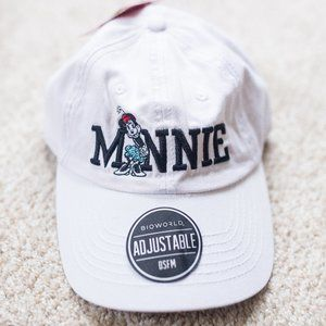 White Minnie Mouse Baseball Hat